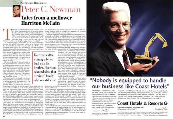 Article Preview: Tales from a mellower Harrison McCain, January 1998 | Maclean's