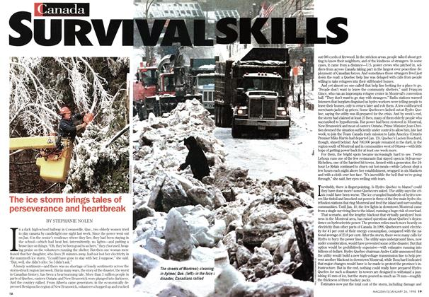 Article Preview: SURVIVAL SKILLS, January 1998 | Maclean's