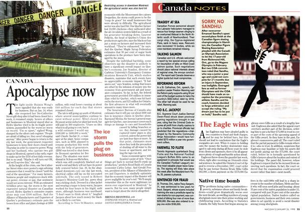 Article Preview: Apocalypse now, January 1998 | Maclean's
