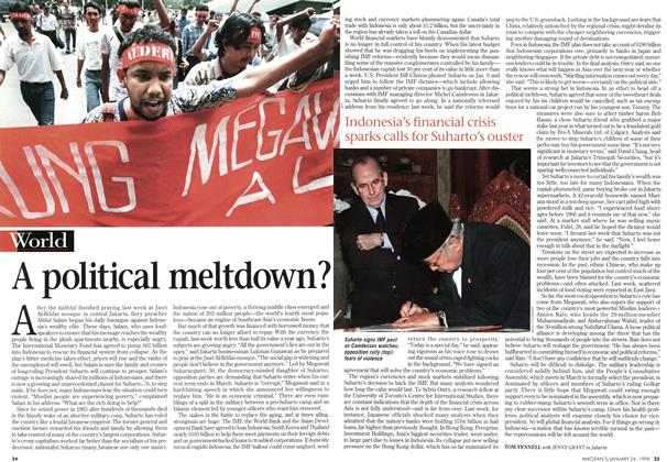 Article Preview: A political meltdown?, January 1998 | Maclean's