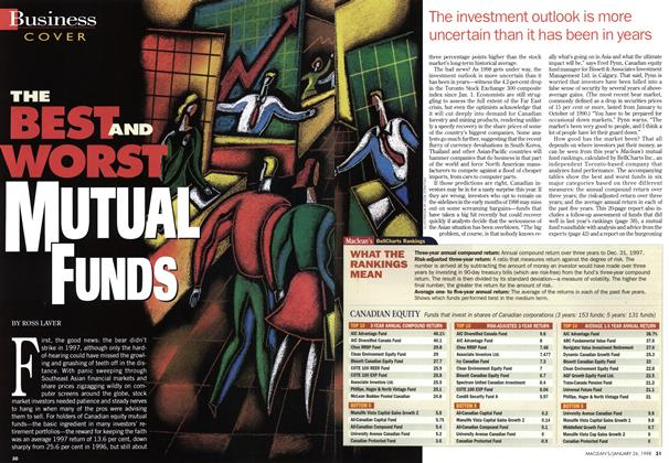 Article Preview: THE BEST AND WORST MUTUAL FUNDS, January 1998 | Maclean's