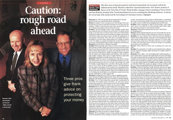 Article Preview: Caution: rough road ahead, January 1998 | Maclean's