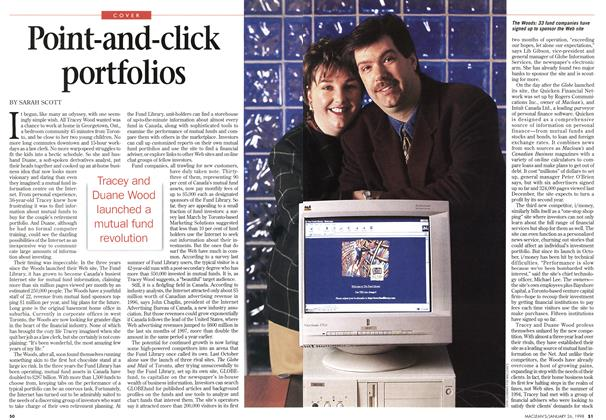 Article Preview: Point-and-click portfolios, January 1998 | Maclean's