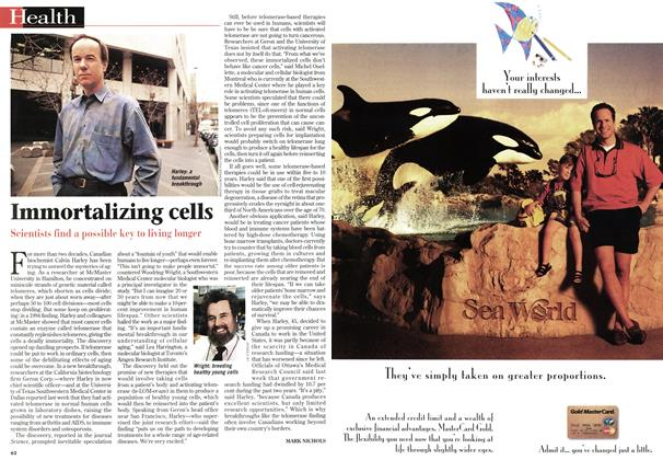 Article Preview: Immortalizing cells, January 1998 | Maclean's