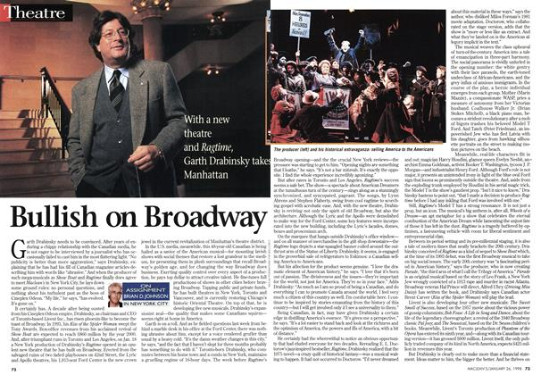 Article Preview: Bullish on Broadway, January 1998 | Maclean's