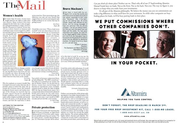 Article Preview: The Mail, January 1998 | Maclean's