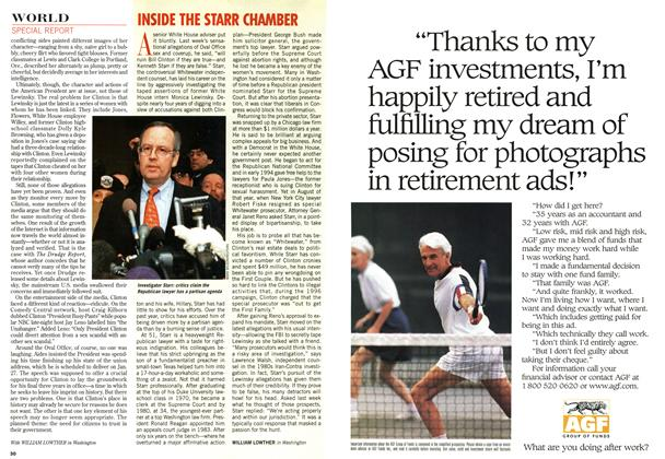 Article Preview: INSIDE THE STARR CHAMBER, February 1998 | Maclean's