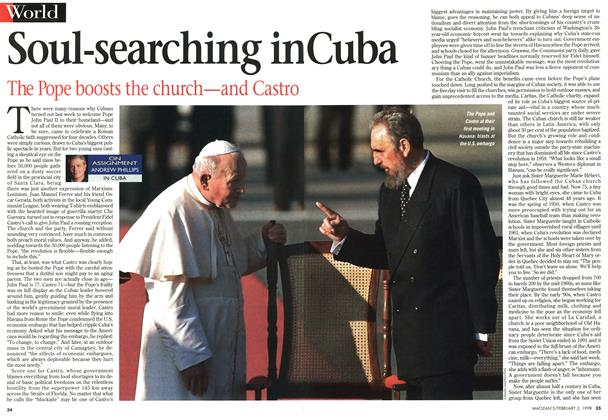 Article Preview: Soul-searching in cuba, February 1998 | Maclean's
