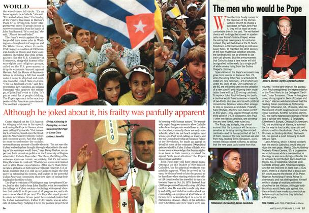 Article Preview: The men who would be Pope, February 1998 | Maclean's