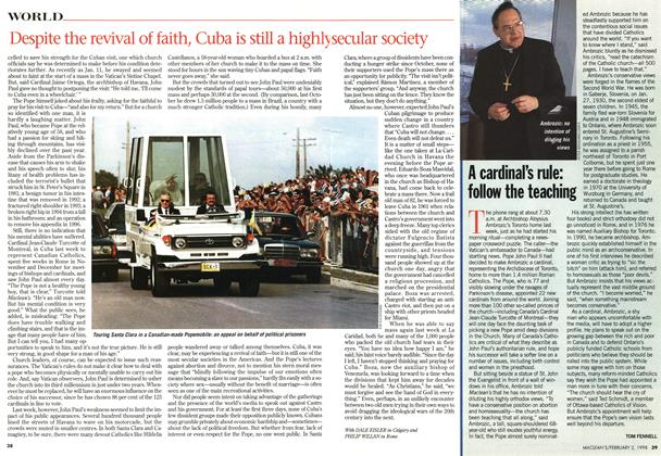 Article Preview: A cardinal's rule: follow the teaching, February 1998 | Maclean's