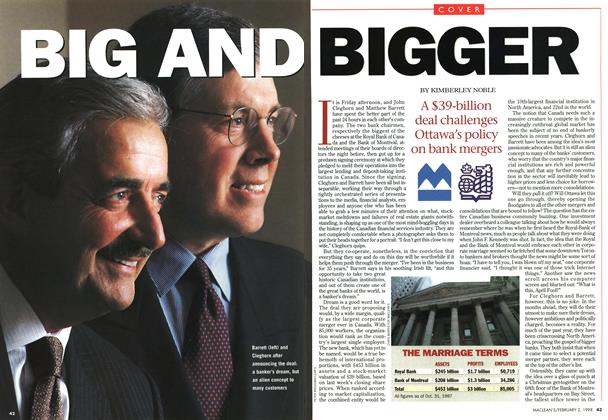Article Preview: BIG AND BIGGER, February 1998 | Maclean's