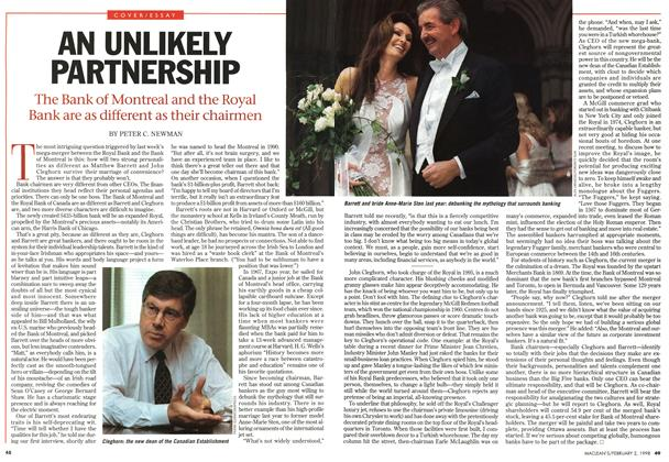 Article Preview: AN UNLIKELY PARTNERSHIP, February 1998 | Maclean's