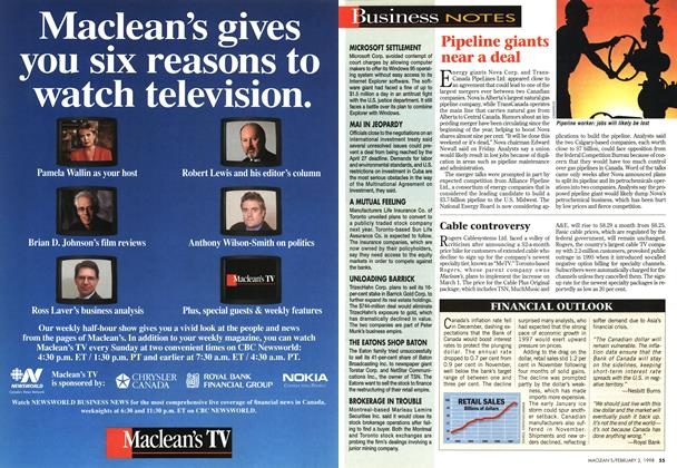 Article Preview: Business NOTES, February 1998 | Maclean's