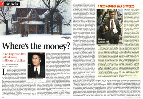 Article Preview: Where's the money?, February 1998 | Maclean's