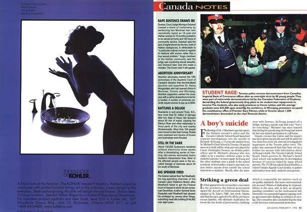 Article Preview: Canada NOTES, February 1998 | Maclean's