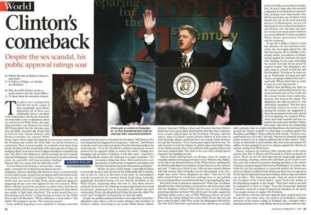Article Preview: Clinton's comeback, February 1998 | Maclean's