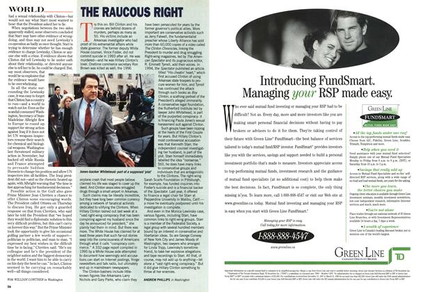 Article Preview: THE RAUCOUS RIGHT, February 1998 | Maclean's