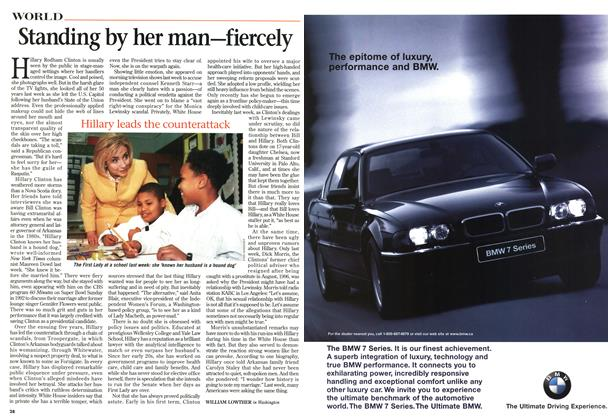 Article Preview: Standing by her man—fiercely, February 1998 | Maclean's