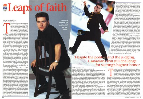Article Preview: Leaps of faith, February 1998 | Maclean's