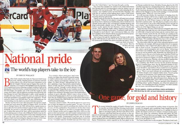 Article Preview: One game, for gold and history, February 1998 | Maclean's
