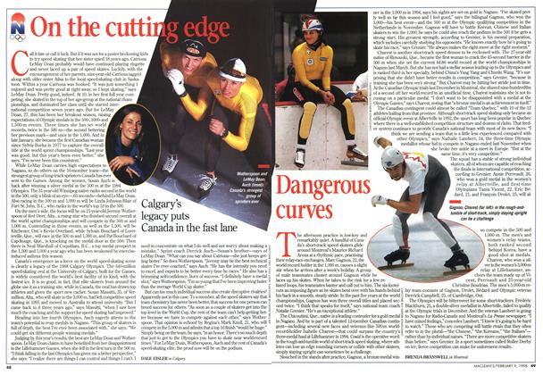 Article Preview: Dangerous curves, February 1998 | Maclean's