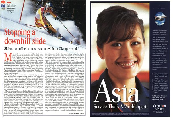 Article Preview: Stopping a downhill slide, February 1998 | Maclean's
