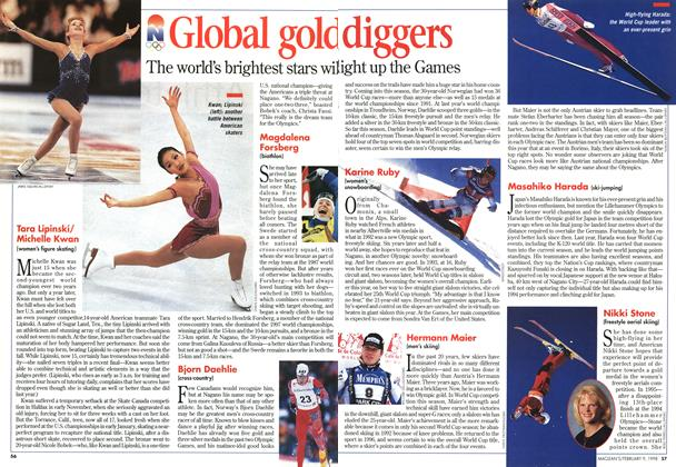 Article Preview: Global gold diggers, February 1998 | Maclean's
