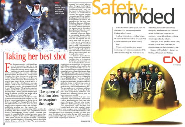 Article Preview: Taking her best shot, February 1998 | Maclean's