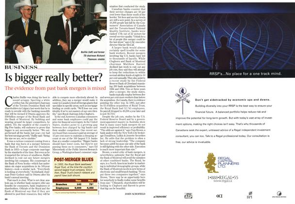 Article Preview: Is bigger really better?, February 1998 | Maclean's