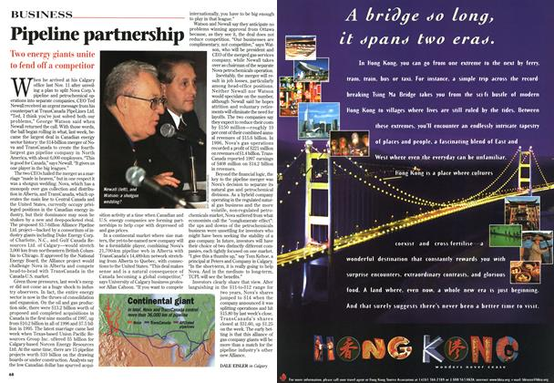 Article Preview: Pipeline partnership, February 1998   Maclean's