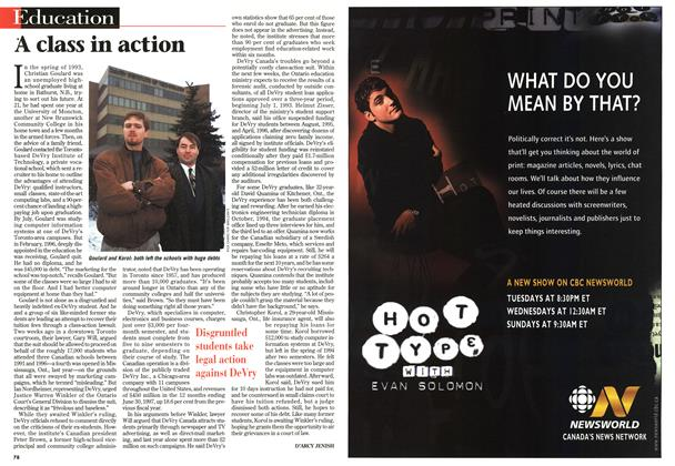 Article Preview: A class in action, February 1998 | Maclean's