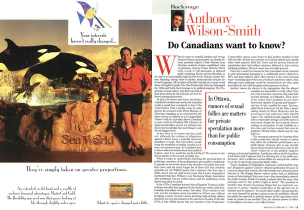 Article Preview: Do Canadians want to know?, February 1998 | Maclean's
