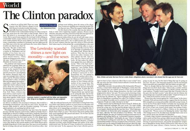 Article Preview: The Clinton paradox, February 1998 | Maclean's