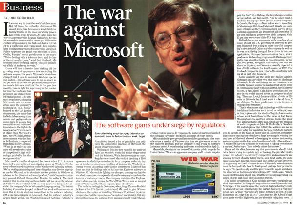 Article Preview: The war against Microsoft, February 1998 | Maclean's