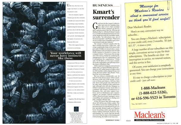 Article Preview: Kmart's surrender, February 1998 | Maclean's