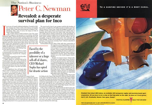 Article Preview: Revealed: a desperate survival plan for Inco, February 1998 | Maclean's