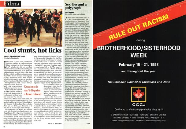 Article Preview: Cool stunts, hot licks, February 1998 | Maclean's
