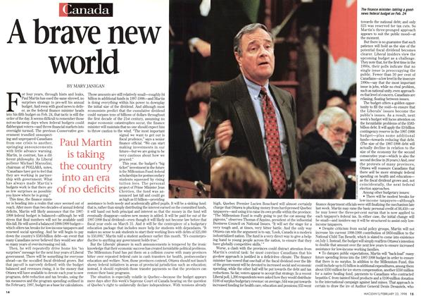 Article Preview: A brave new world, February 1998 | Maclean's