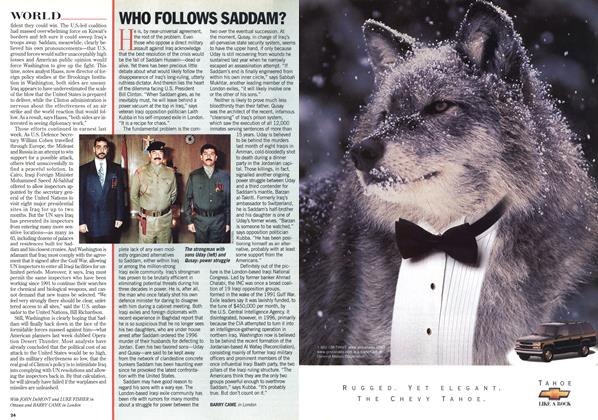 Article Preview: WHO FOLLOWS SADDAM?, February 1998 | Maclean's