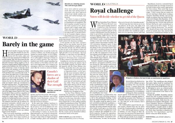 Article Preview: Royal challenge, February 1998 | Maclean's