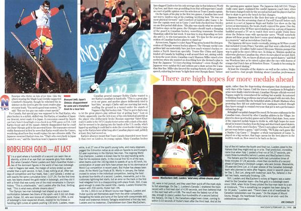 Article Preview: BOBSLEIGH GOLD—AT LAST, February 1998 | Maclean's