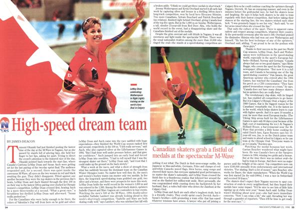 Article Preview: High-speed dream team, February 1998 | Maclean's