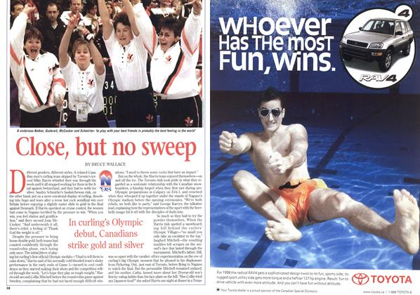 Article Preview: Close, but no sweep, February 1998 | Maclean's