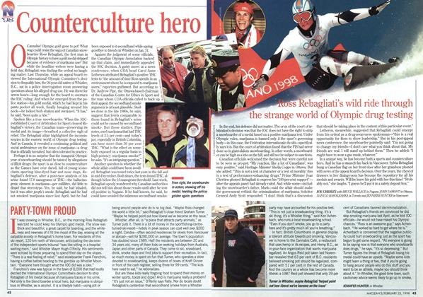 Article Preview: Counterculture hero, February 1998 | Maclean's