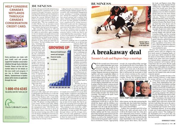 Article Preview: A breakaway deal, February 1998 | Maclean's