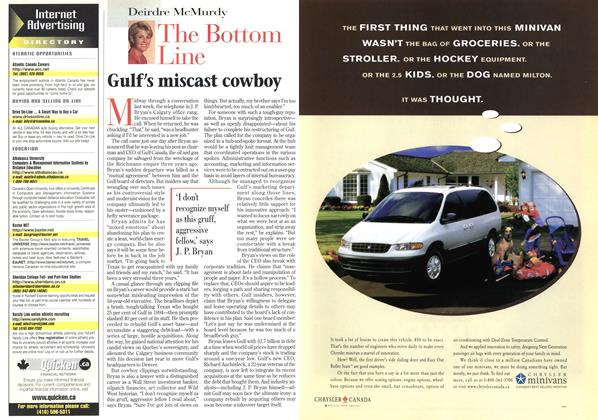 Article Preview: Gulf's miscast cowboy, February 1998 | Maclean's