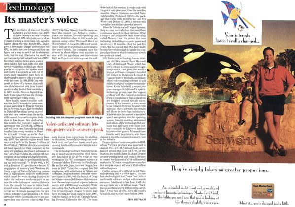 Article Preview: Its master's voice, February 1998 | Maclean's