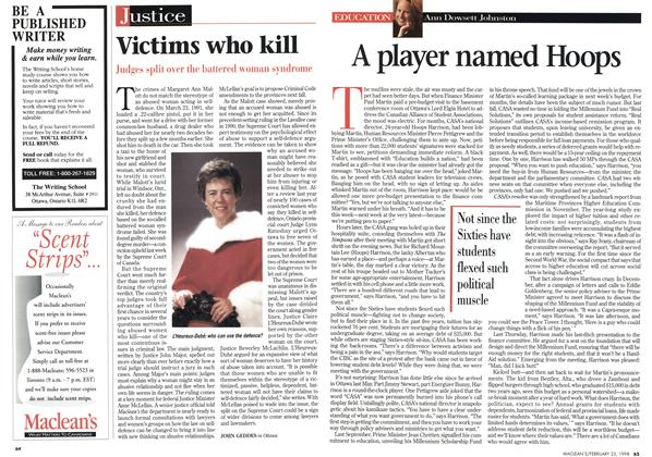 Article Preview: Victims who kill, February 1998 | Maclean's