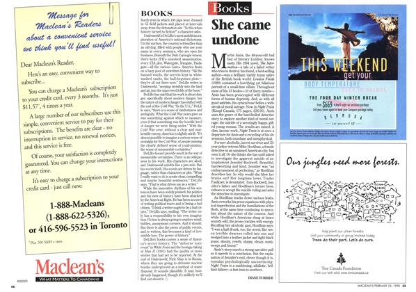Article Preview: She came undone, February 1998 | Maclean's