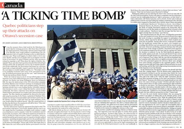 Article Preview: 'A TICKING TIME BOMB', March 1998 | Maclean's